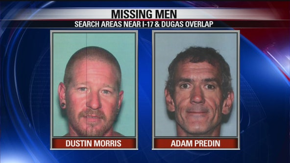 YCSO searching for 2 men near I-17 and Dugas Road