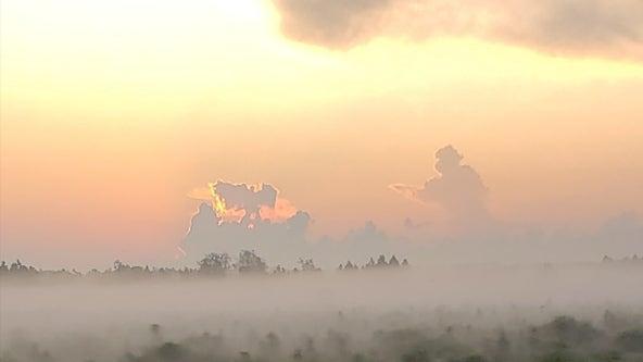 Florida man spots 'firefighter running toward angel' in clouds on September 11