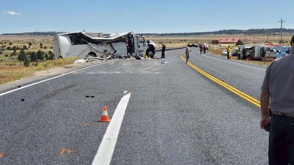 Officials: Tour bus crash near Bryce Canyon National Park in Utah kills 4