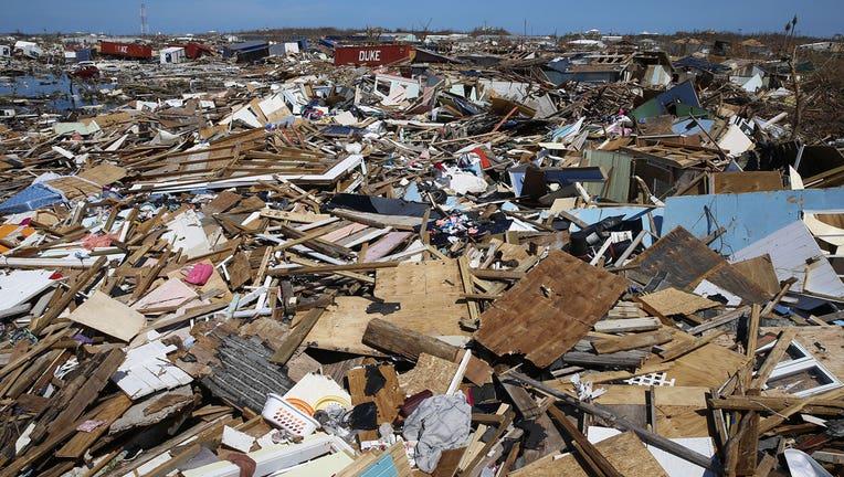 c32b64c2-Debris strewn all over AbacoIsland following Hurricane Dorian.(Photo by Jose Jimenez/Getty Images)