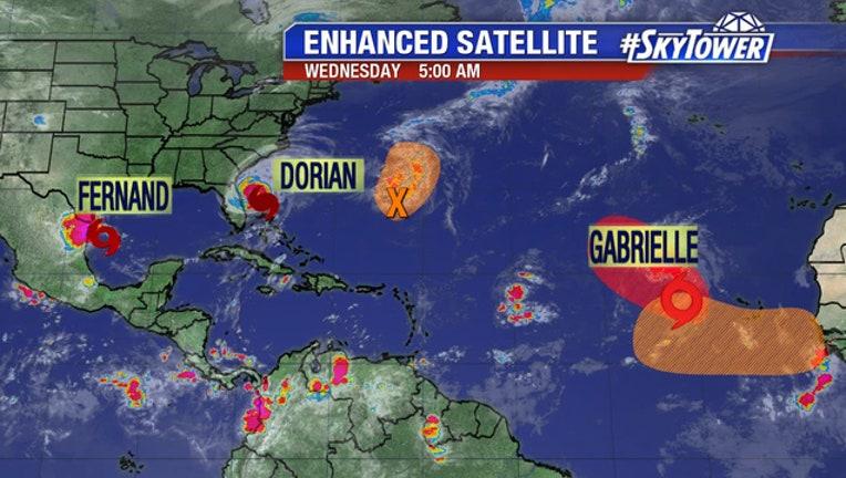 Tropical Storm Gabrielle forms