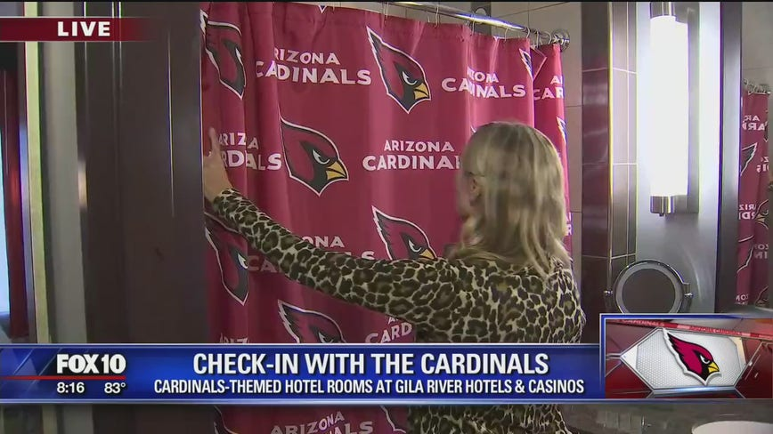 Cardinals-themed hotel rooms at Gila River Hotels and Casinos