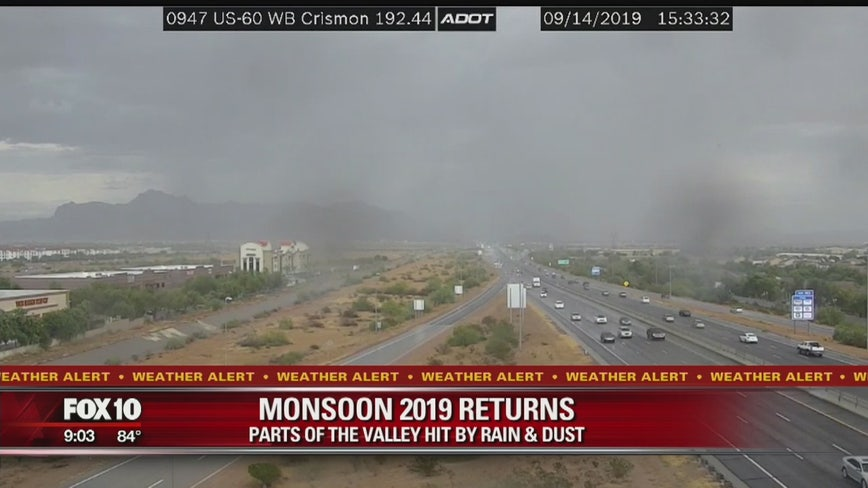 Parts of the Valley hit by rain and dust as Monsoon 2019 returns