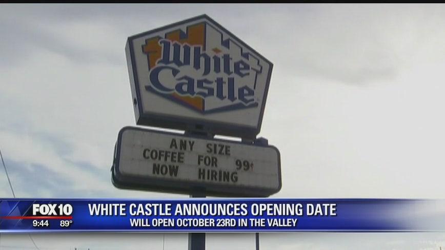 White Castle set to open first Arizona restaurant on October 23