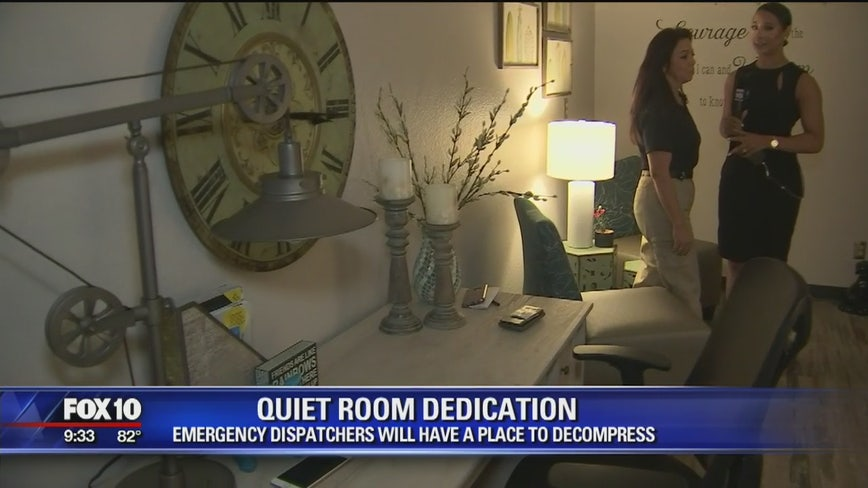Quiet room dedication for emergency dispatchers