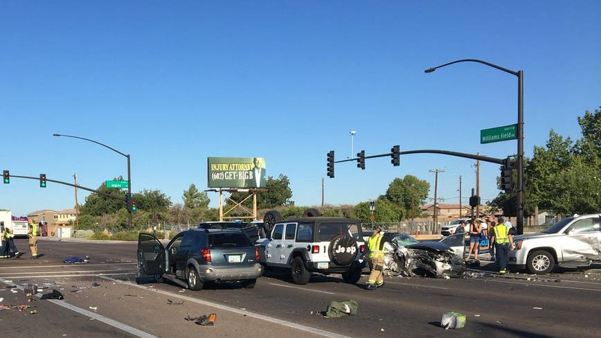 Gilbert crews respond to accident involving 15 people