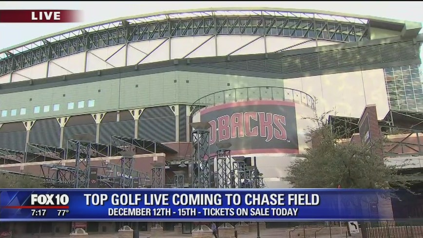 Top Golf opening pop up at Chase Field