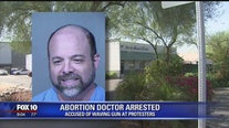 Phoenix PD: Doctor arrested for allegedly pointing a gun at pro-life protesters