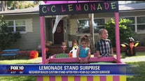 5-year-old cancer survivor surprised with new lemonade stand