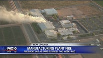 Manufacturing plant catches fire for the second time in 2 weeks