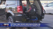 Scottsdale family whose daughter has cerebral palsy gets new wheelchair accessible van
