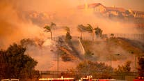Winds ease as crews fight Southern California fire