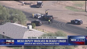 Gila River Police: 1 killed after crash involving MCSO deputy near 78th Ave. and Baseline Road