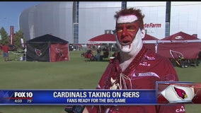 Fans get ready for Thursday Night Football game between the Arizona Cardinals and the 49ers