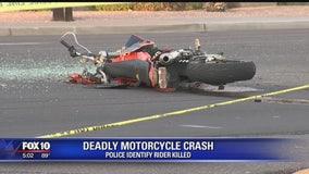 Victim identified in deadly motorcycle crash in Phoenix