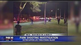 Mesa Police looking for suspect after 1 injured in shooting near Pioneer Park