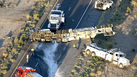 Portions of I-10 reopened following a crash in the West Valley