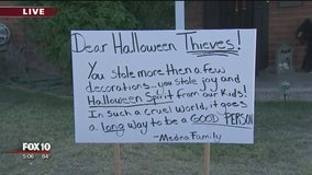 Scottsdale family has message for thieves who stole Halloween decorations