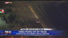 PD: 1 child, 2 adults seriously injured after being hit while crossing Phoenix roadway