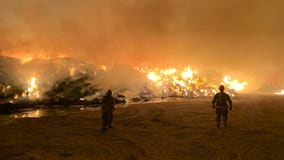 Smoke lingers from hay fire in southern Arizona