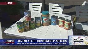 Arizona State Fair Wednesday specials