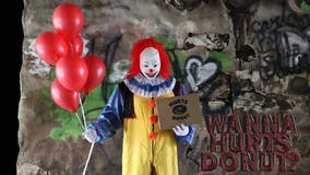 Hurts Donut offering scary clown deliveries for October