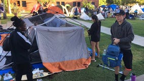 GCU students camp out to kick off basketball season