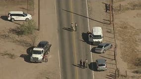 Sheriff's Office: Girls hit by car after running into street