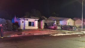 Early-morning fire destroys home in Chandler