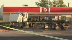 South Phoenix intersection reopens following semi crash, fuel leak