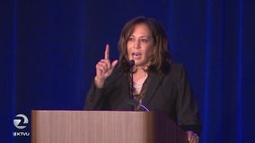 Sen. Kamala Harris urges Twitter to suspend Trump's account