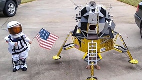 Dad wins Halloween with epic custom lunar module and astronaut costumes he built for daughters