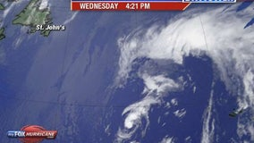 Subtropical Storm Rebekah forms in northern Atlantic