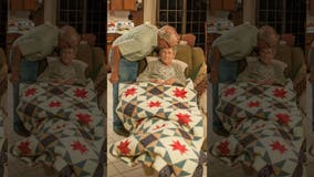 Emotional photo shoot captures some of elderly farmer's last moments with his wife of 65 years
