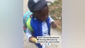 Little boy's affirmations go viral