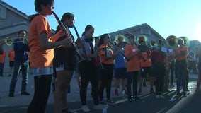 West Valley high school band performs for teammate who's battling leukemia