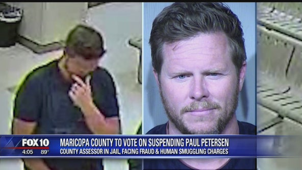 Maricopa County Board of Supervisors taking steps to suspend Assessor Paul Petersen