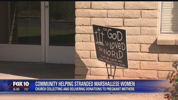 Pregnant women from Marshall Islands getting help from Phoenix church