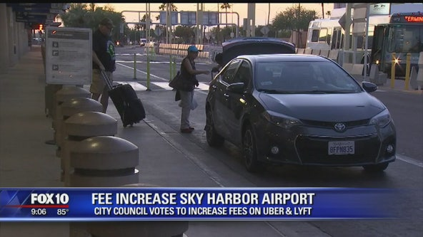 City Council votes to increase rideshare fees at Sky Harbor