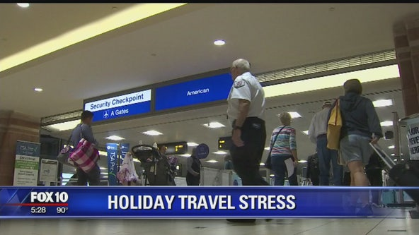 Holiday travel stress