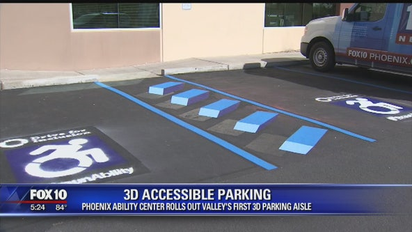 Phoenix Ability Center rolls out first-ever 3D accessible parking aisle