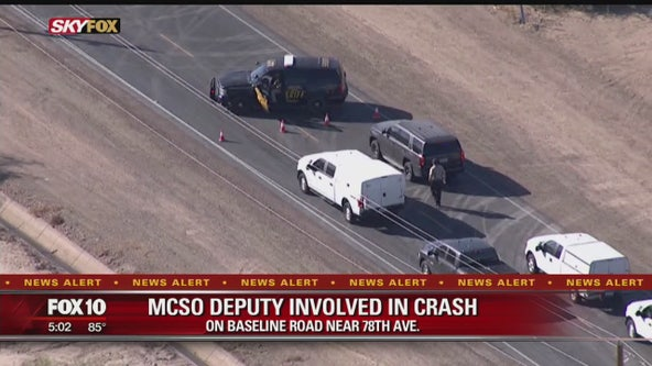 MCSO deputy involved in crash on Baseline Road near 78th Ave.