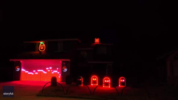California man lights up house with rocking Halloween display