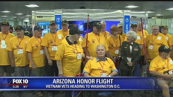 Vietnam veterans travel to Washington D.C. on Arizona Honor Flight