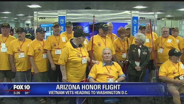 Vietnam veterans travel to Washington D.C. on Arizona Honor Flight