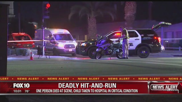 PD: Man dead, child critical following hit and run in Chandler