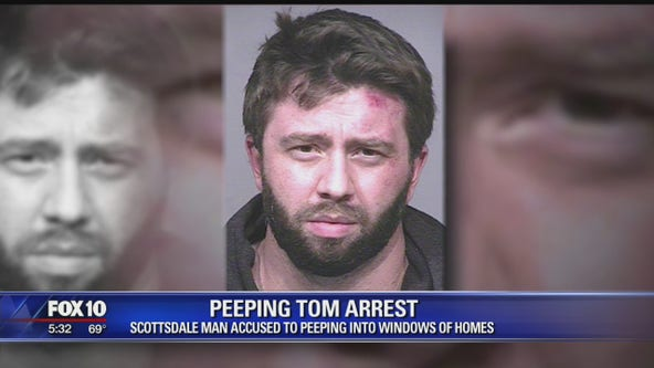 Scottsdale man arrested, accused of peeping into windows of homes
