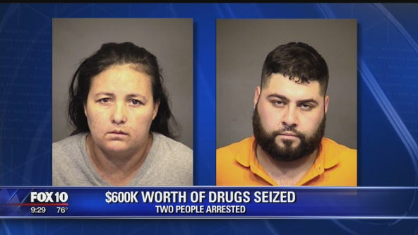 Mesa PD: Nearly $600K worth of drugs seized, 2 suspects arrested
