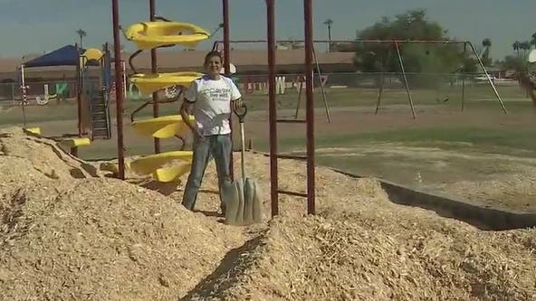 Phoenix elementary school's playground gets makeover thanks to Fiesta Bowl Charities