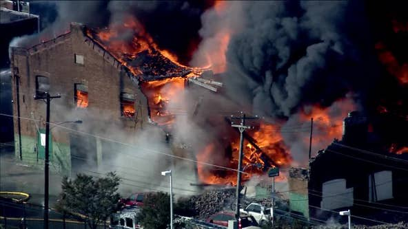 Fire at West Philly auto body shop under control after prompting school evacuation